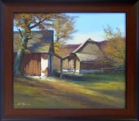 Podzim u staré stodoly